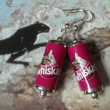 Unique WHISKAS CAT FOOD TIN EARRINGS mad cat lady TINNED MEAT mixed up dolly FAB
