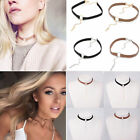 Gothic Velvet Choker Collar Bibs Round Pendant Statement Necklaces Chain Jewelry