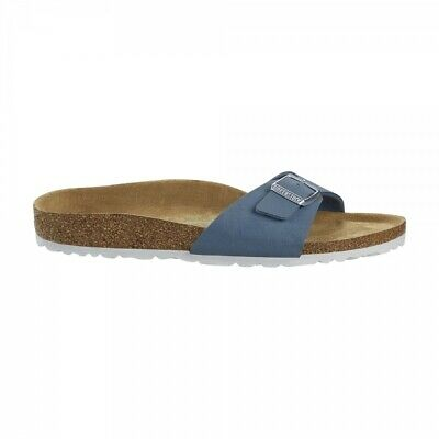 Birkenstock MADRID 1018156 (Reg) Ladies Vegan One Strap Sandals Brushed Dove