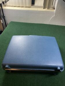 Vintage-Blue-JCPenney-Aspen-by-Samsonite-Suitcase-Luggage-hard-Shell-case-RARE