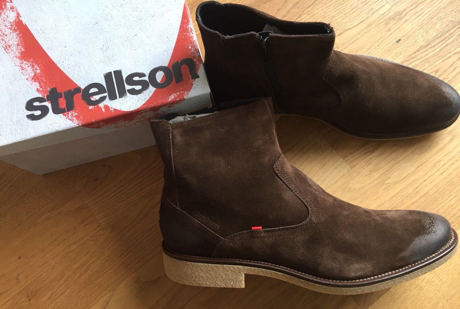 STRELLSON Herren Chelsea Stiefel Stiefeletten Stiefel Schuhe 45 neu mit Karton