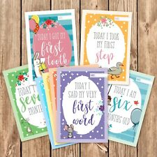 25x Baby Milestone Cards ~ 1st Year Memorable Moments Boy Girl or Unisex  (G27)