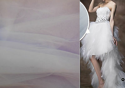 White Soft Tulle Fabric Dress making// all kind of DIY 160cm wide.Sold per 0.5M