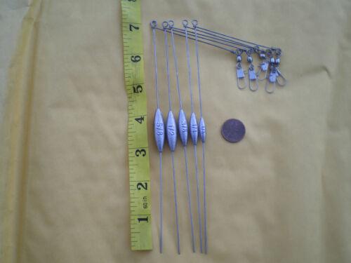 """10 SMALL BOTTOM BOUNCER SINKER 1//2 OZ W//STAINLESS S WIRE .041X7/"""" LEG X3/"""" ARM"""