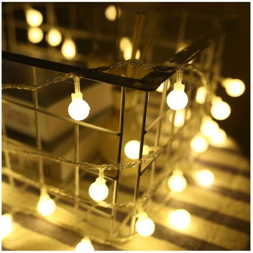 Battery Powered Globe String Lights Fairy String Warm White 20 50 80 LED Solar