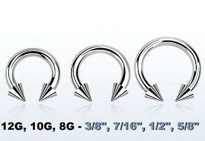 "10g 1//2/""-5//8/"" Internal Stainless Steel Circular Barbell"