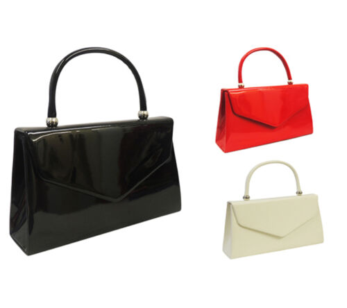 Retro Handbags, Purses, Wallets, Bags    Retro 1940s 50s WW2 Wartime Black White Red Classic Granny Kelly Box Hand Bag $19.95 AT vintagedancer.com