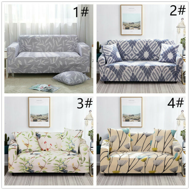 Amazing 1 2 3 Sofa Covers Couch Slipcover Stretch Elastic Fabric Settee Protector Fit Download Free Architecture Designs Rallybritishbridgeorg
