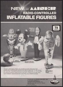UNION-MAJOR-Inflatables-Orig-1980-Trade-Print-AD-promo-advert-Dracula-Hulk