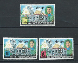 PHILIPPINES ,1969 , EMILO AGUINALDO , SET OF 3 PERF, MNH