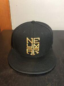 e2500ce04 Details about NIKE NEYMAR TRUE FLAT BILL SNAPBACK 631380-011 RARE HAT CAP  CR 7 BRAZIL PSG