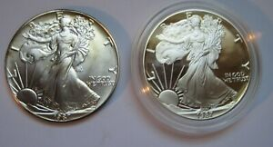 1987-Mint-and-Proof-Bullion-Silver-American-Eagles