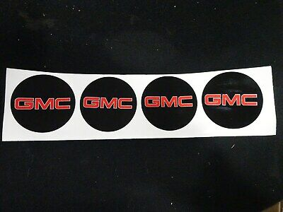 "2X Wheel Center Cap GMC Logo Sticker Decal Emblem 3.5/"" 88mm GMC 1500 2500 3500"