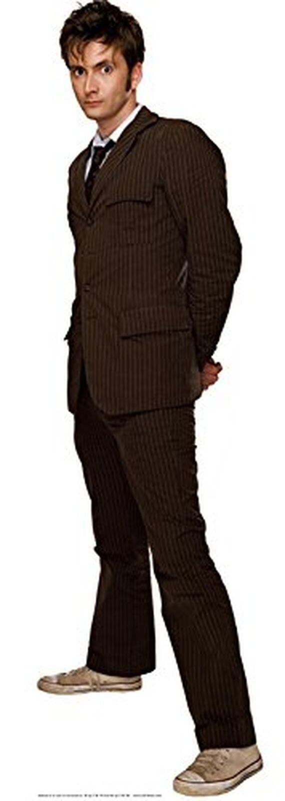 STAR CUTOUTS SC125 Official Tenth Doctor Who David Tennant Suit (Braun) lifes...