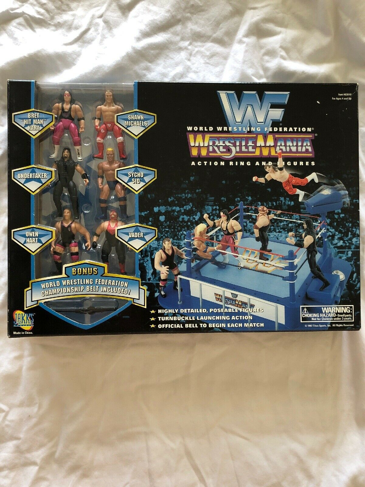 Vintage Jakks Pacific WWF (WWE) Wrestlemania Mini Action Ring - Factory Sealed