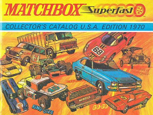 Matchbox catálogo estados unidos 1970 frescos de impresión
