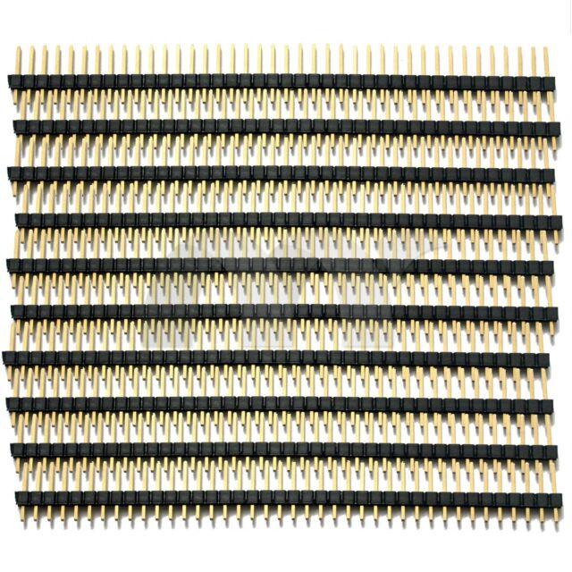 10 Pcs 40 Pin 2.54 mm Single Row Straight Pin Header