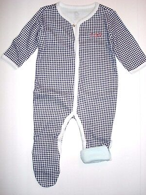 NEW Hatley Baby Sleepy Romper Blue White Polar Bears 1-Piece Sleeper Infant 3-6m