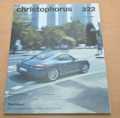 Porsche Christophorus Nr. 322 Magazin 10/06 911 Gt3rs Cayman Rs Spyder Eine Lange Historische Stellung Haben
