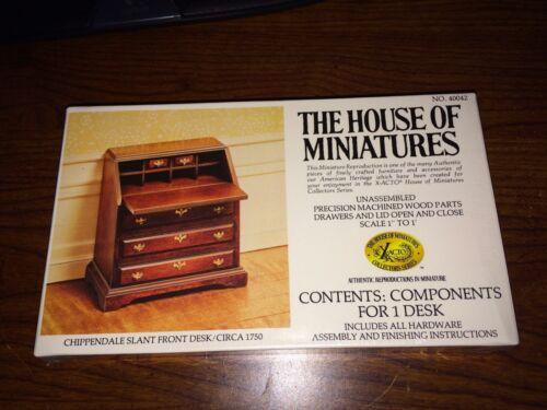 1//12 CHIPPENDALE SLANT FRONT DESK KIT #40042 HOUSE OF MINIATURES FACTORY SEALED