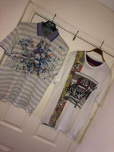Mens Large Robert Graham T Shirt Polo Graphic Artistic Bundle Designer Rare Art Ebay