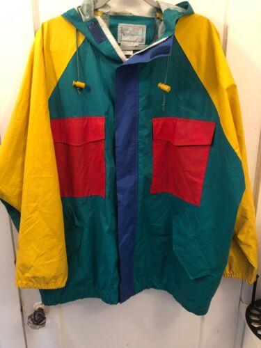 Vintage Medium Pappagallo Rainbow Rain jacket 1980