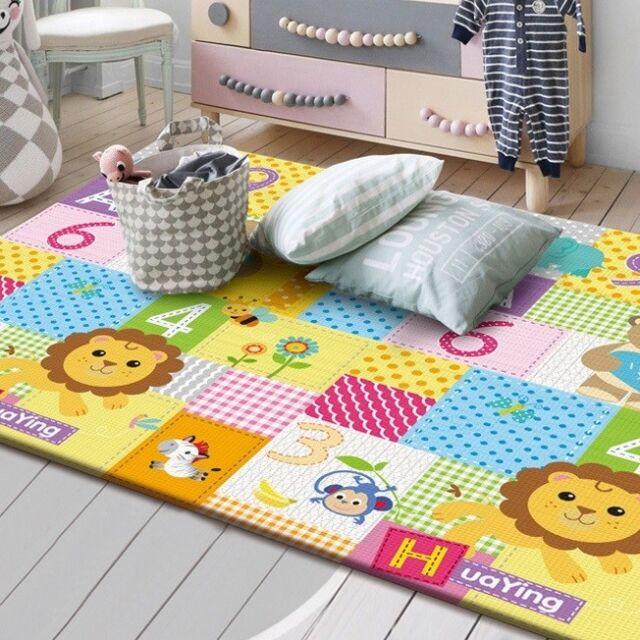 XXL Krabbel- und Spielmatte Spielteppich Krabbeldecke Kindermatte Spiel Teppich