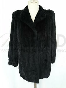 Donna Pelz Art Pelliccia Fur In Nero Cappottino 5494 Mex Di Visone 47xT1wqFw