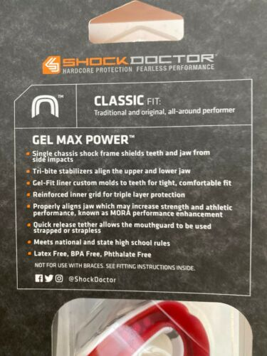 Shock Doctor Gel Max Power Drip Mouthguard Adult Multi Color Mouth Guard