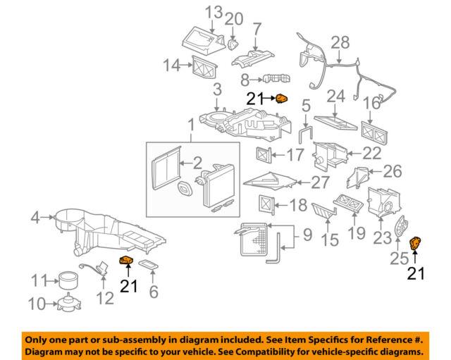 97-04 Corvette C5 Blend Door Actuator 16163982 OEM