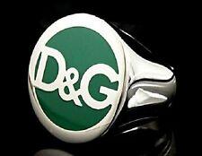 DOLCE & GABBANA I LOVE D&G DJ0060 Ring Silber Grün Grösse 55 / 17,5