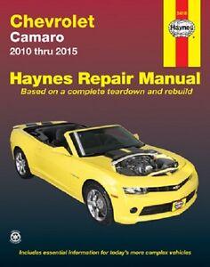 2010 2015 chevrolet camaro haynes repair service manual 2011 2012 rh ebay com 2014 camaro service manual online 2013 camaro service manual download