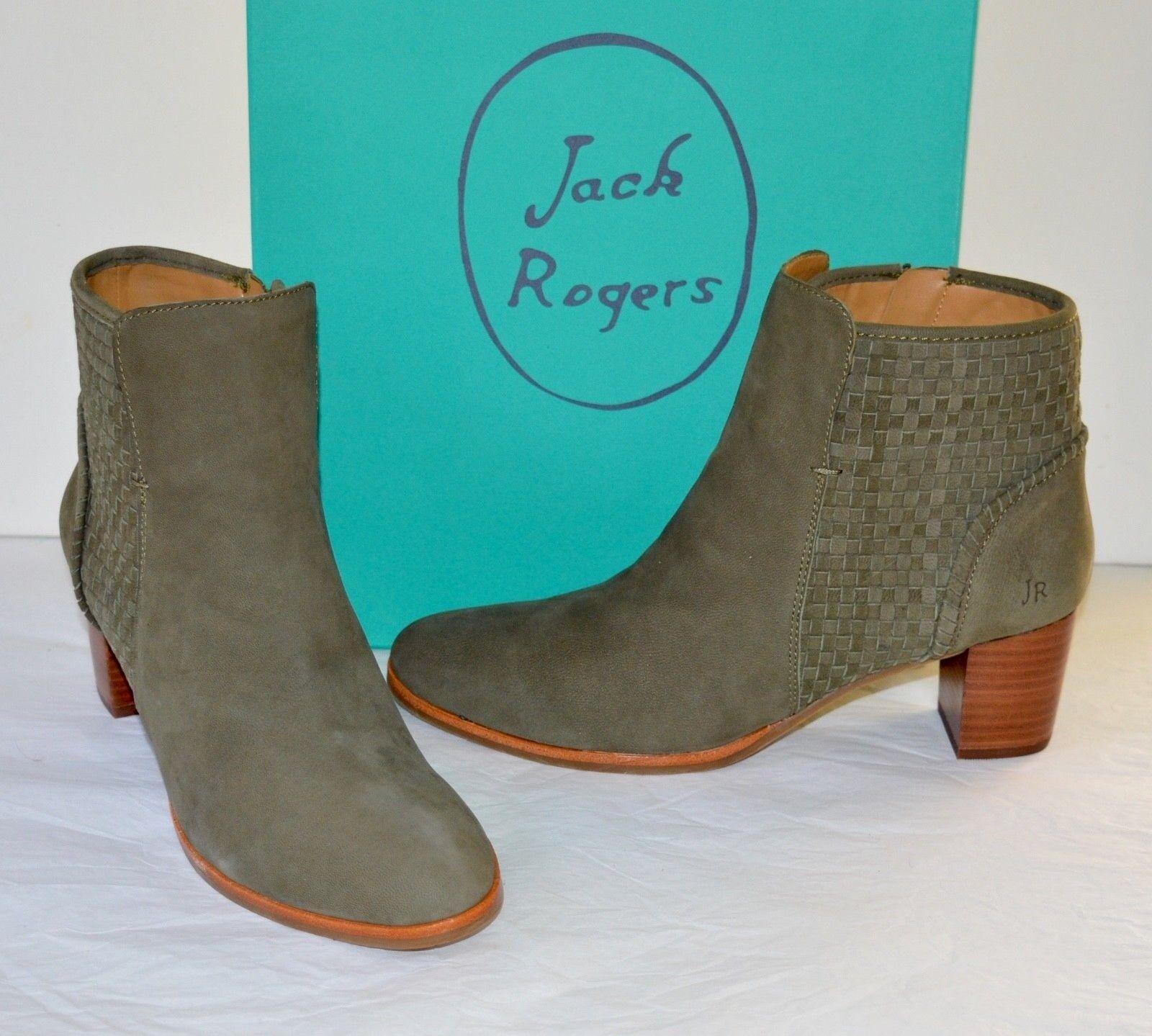 per offrirti un piacevole shopping online New  168 Jack Rogers Deborah Olive Olive Olive verde Suede Ankle stivali avvioie Woven Short  l'intera rete più bassa