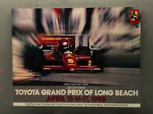 Vintage-LONG-BEACH-Toyota-Grand-Prix-Racing-1988-Poster-22x17-Promotion