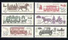 Russia 1991 HORSES/Transport/Tram/Bus/Car 6v set n17771