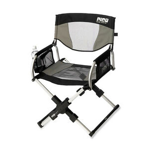 Gci Pico Folding Arm Chair Sage Gray Compact Portable