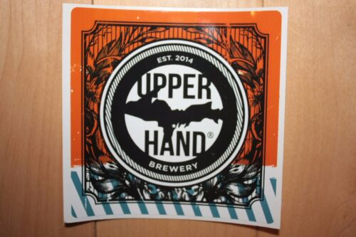 UPPER HAND BREWERY Michigan Square STICKER decal craft beer brewery brewing