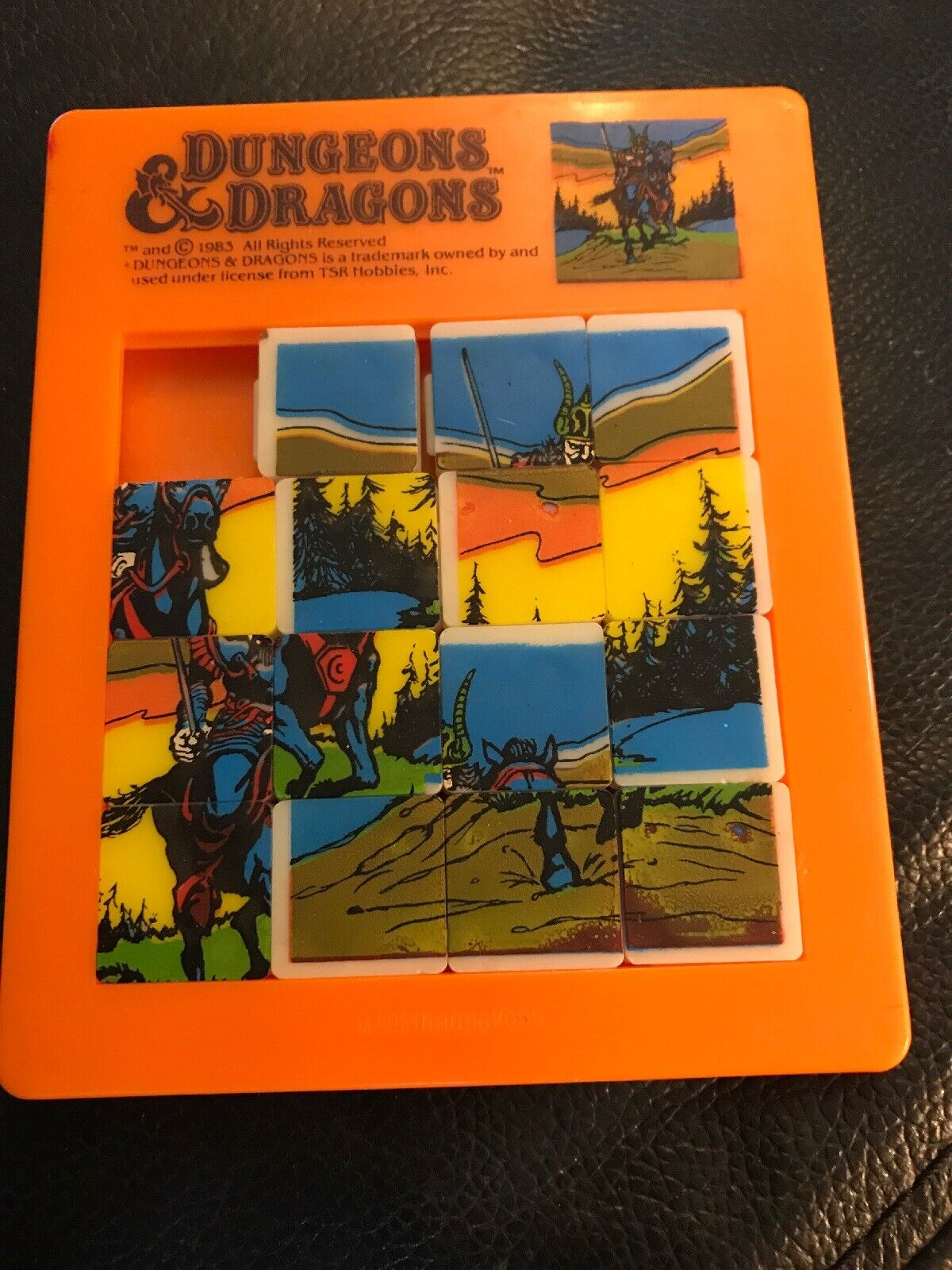 1983 DUNGEONS & DRAGONS SLIDING PUZZLE BY TSR TSR TSR