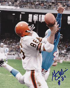 GARY COLLINS  CLEVELAND BROWNS  1964 NFL CHAMPS   ACTION SIGNED 8x10