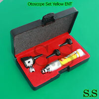 Otoscope Set Yellow Ent Medical Diagnostic Instruments (batteries Not Included)