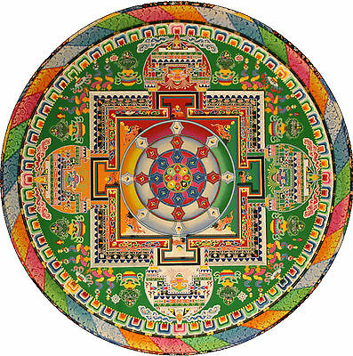 Framed Print - Colourful Buddhist Mandala (Picture Religion Buddha Buddhism Art)