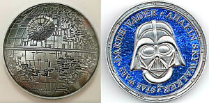 3D-Death-Star-Wars-Moon-Silver-Coin-Darth-Vader-Sci-Fi-Films-Rise-of-Skywalker