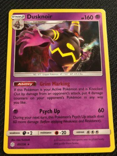 SM COSMIC ECLIPSE DUSKNOIR 85//236 RARE HOLO Pokemon