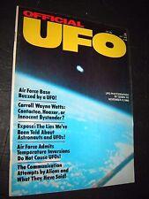 Official UFO Magazine 1976 October Carroll Wayne Watts Gemini XII Photograph !