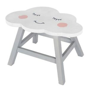 Admirable Details About Cute Fluffy Cloud Design Shabby Chic Childrens Babies Nursery Wooden Stool Gmtry Best Dining Table And Chair Ideas Images Gmtryco