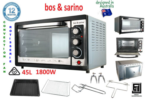 NEW Convection Oven with Roast Function Large 45L Cavity 60 minute Audible Timer