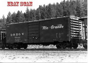 6EE948 RP 1973 D&RGW RIO GRANDE RAILROAD BOXCAR #50343 TENNESSEE PASS CO