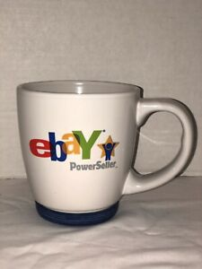 Ebay Powerseller Coffee Mug Tea Cup 14oz Logo Rubber Base Original Euc Ebay