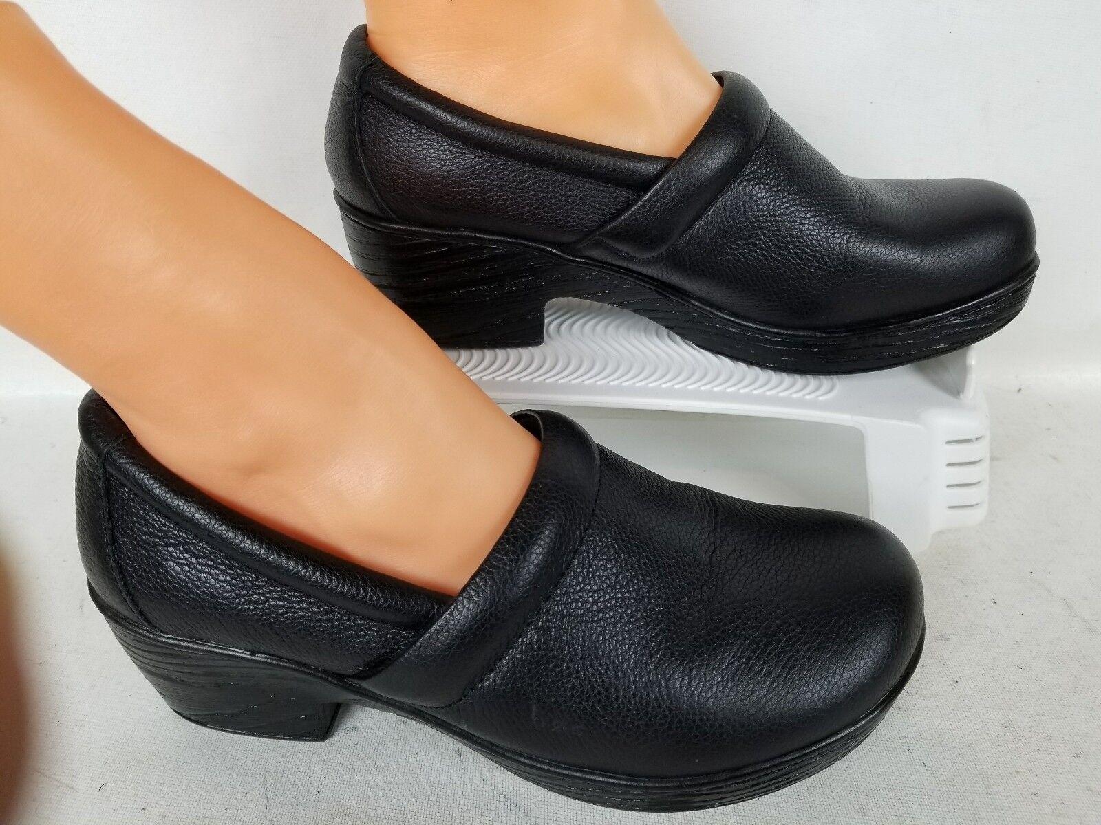 BORN femmes CLOGS COMFORT noir LEATHER chaussures SZ US 9.5M