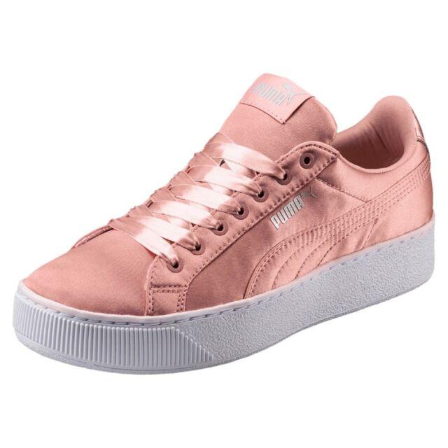 Puma Vikky Platform EP Ladies Sneaker Shoes 365239 Peach Beige Ausveruf